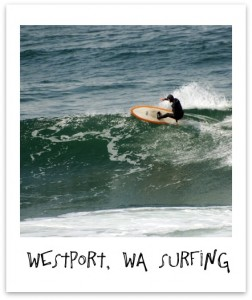 Surfing in Westport, WA