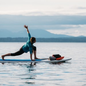 Stand up paddle yoga on the Sound.
